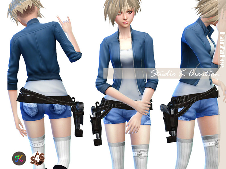 Gun Belt for Sims 4