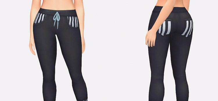 Maxis Match Black Sweatpants in The Sims 4