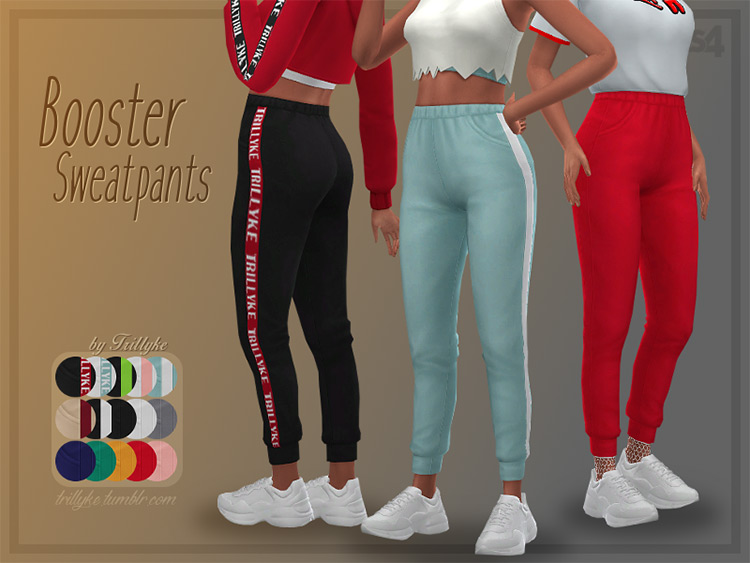 Booster Sweatpants for Sims 4