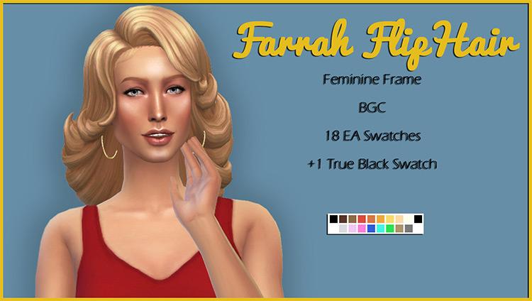 Farrah Flip Hair 1970s Style - TS4 CC