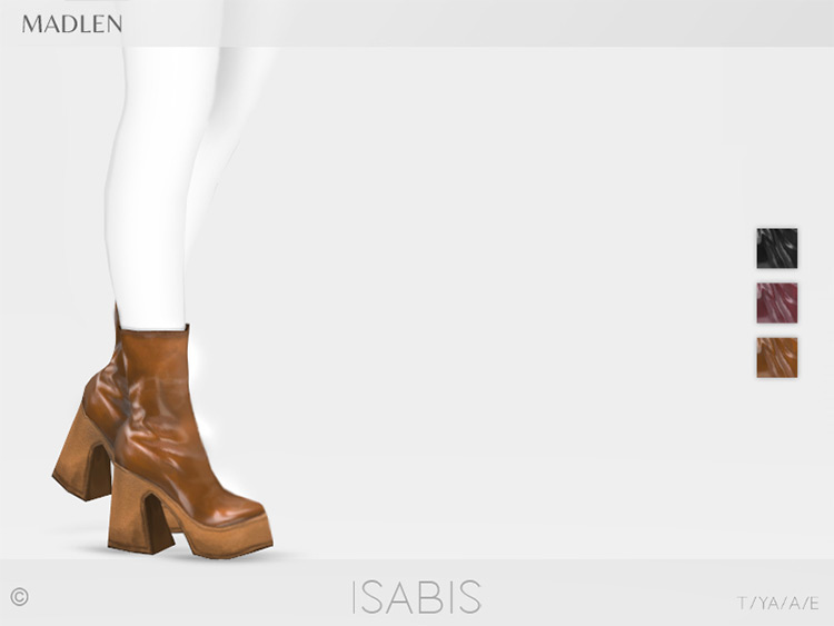 1970s Isabis Boots Sims 4 CC