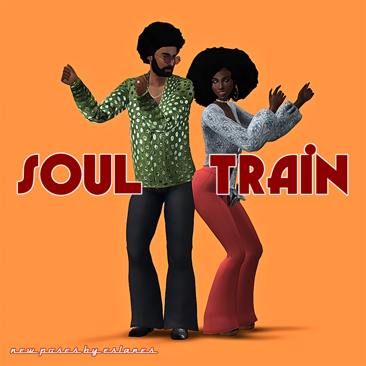 Soul Train 70s Poses for Sims 4