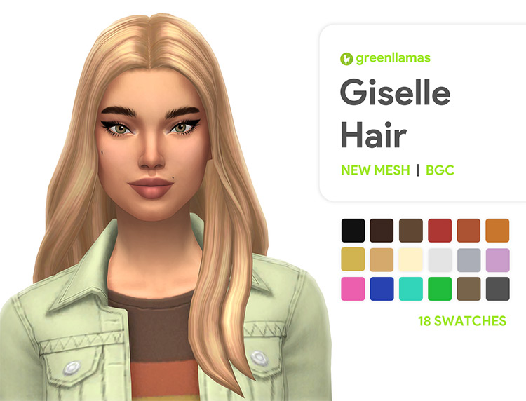 1970s Giselle Hair for Sims 4