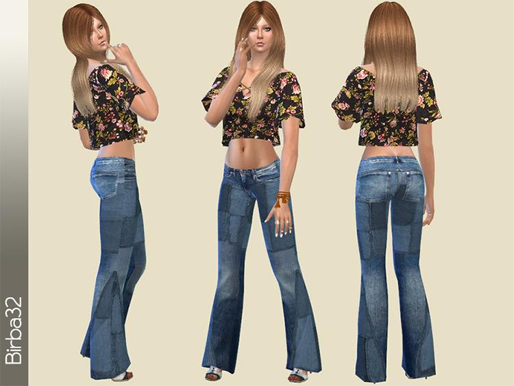 1970s Hippie Jeans Sims 4 CC
