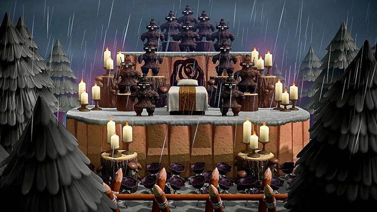 Dark rainy altar area at night - ACNH Idea