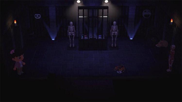 Custom basement dungeon DJ dance space in ACNH