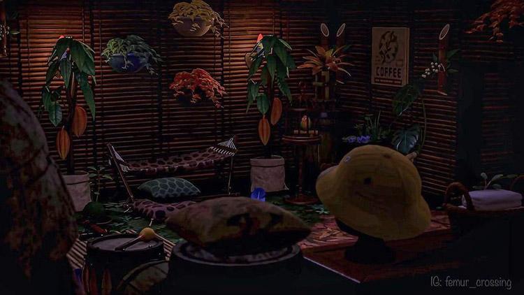 Dark jungle bungalow idea