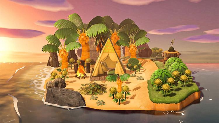 Custom junglecore island idea for ACNH