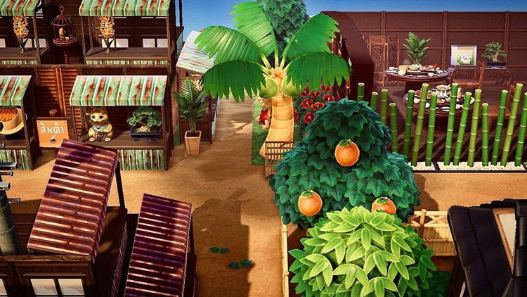 Rainforest marketplace in ACNH
