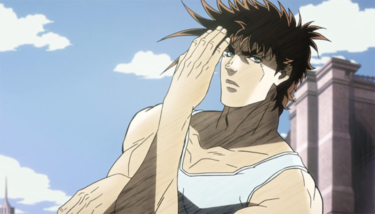 Joseph Joestar in JoJo's Bizarre Adventure anime