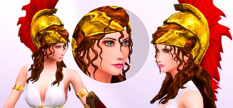 Athena Ancient Greek Hair CC for Sims 4