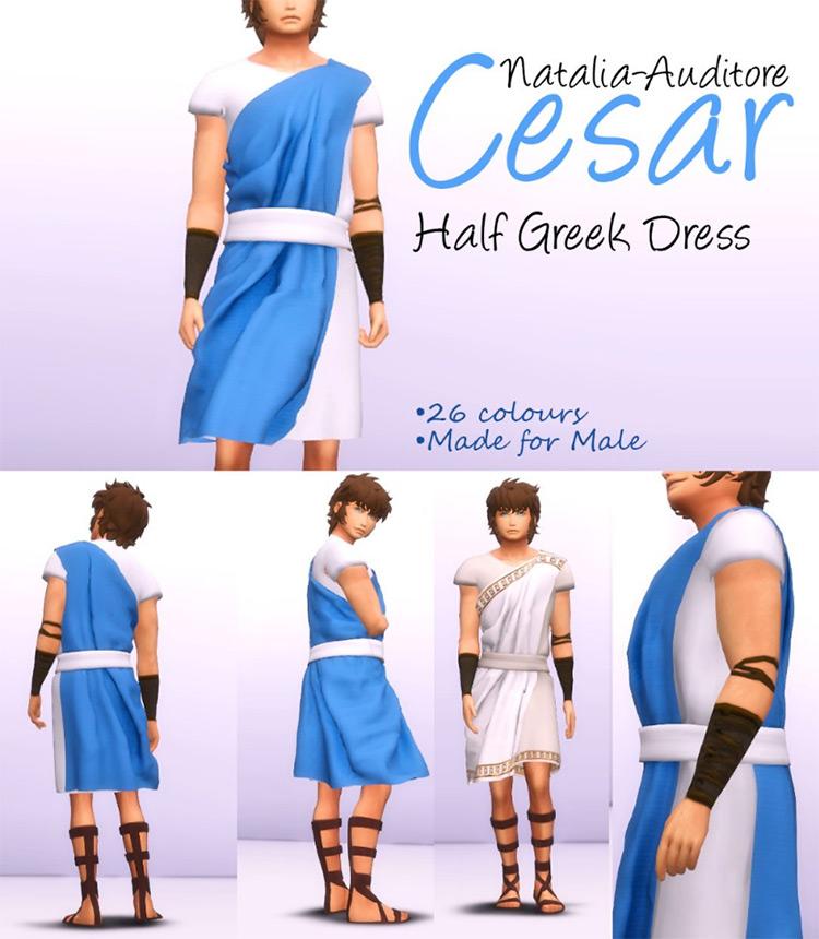 Half Greek Dress TS4 CC