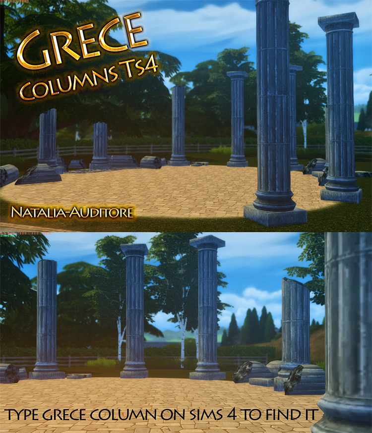 Greek Columns for Sims 4