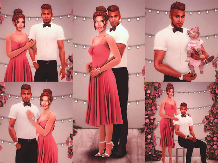 Prom Night Pose Pack by katverse for Sims 4