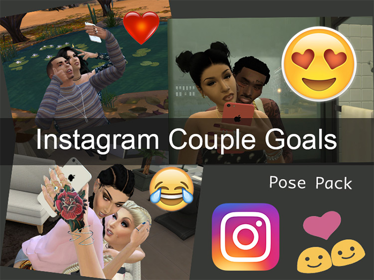 Instagram Couple Goals Pose Pack by Error404Phillips TS4 CC