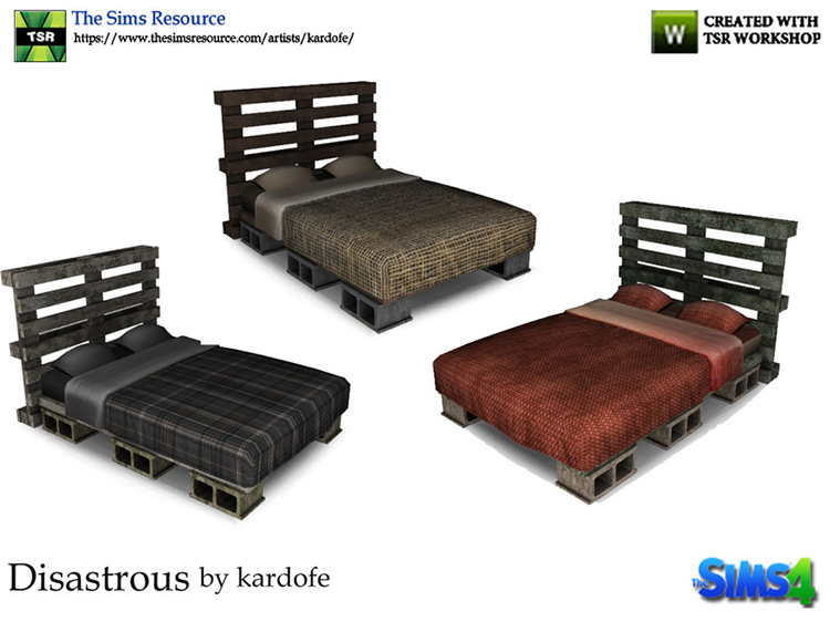 Disastrous Bed Sims 4 CC