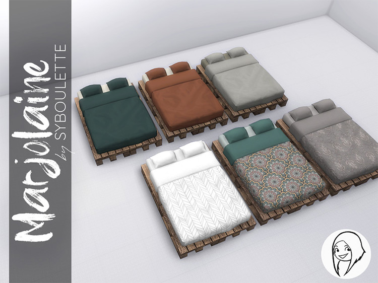 Double Bed Sims 4 CC