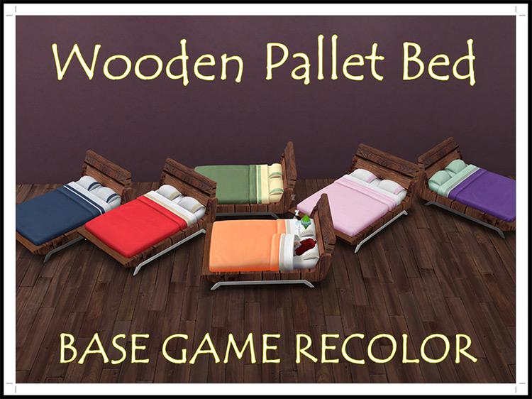 Ghuri's Woodern Pallet Bed TS4 CC