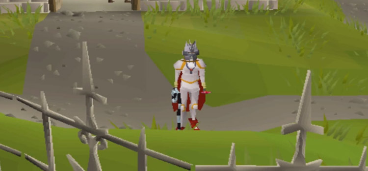 Prayer gear knight build in OSRS