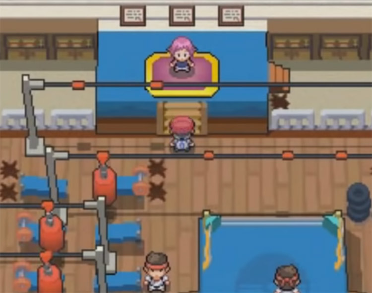 Maylene Gym Screenshot from Pokemon Platinum