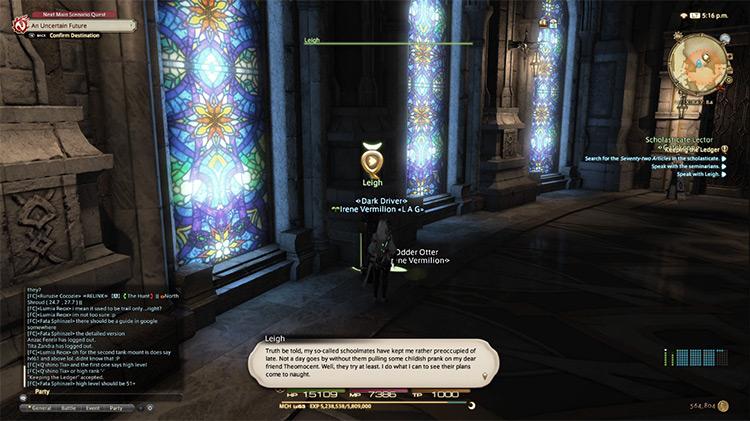 Keeping the Ledger FFXIV screenshot