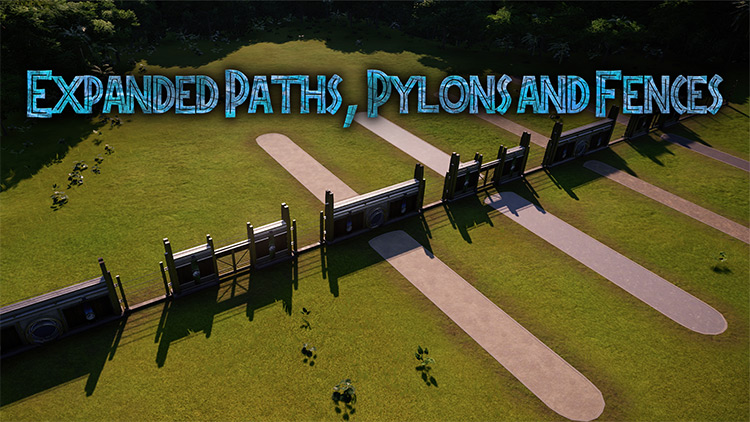 Expanded Paths, Pylons, and Fences Mod for JWE