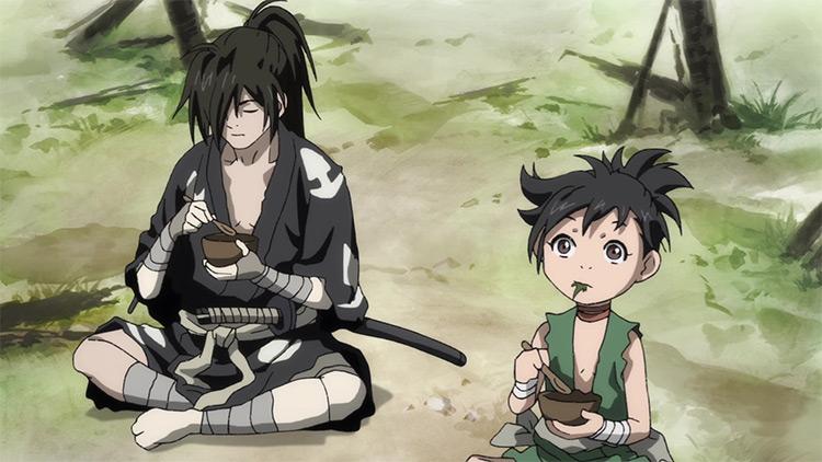 Hyakkimaru and Dororo in Dororo anime