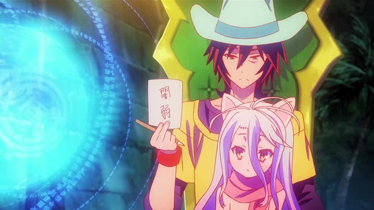 Sora and Shiro from No Game, No Life anime