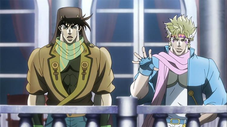 Caesar Anthonio Zeppeli and Joseph Joestar in JoJo's Bizarre Adventure: Battle Tendency