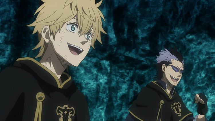 Magna Swing and Luck Voltia from Black Clover anime