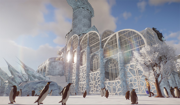 Detailed Penguin Ice Cathedral Planet Zoo Mod
