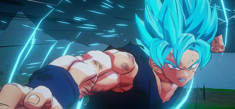 Blue Hair Goku Modded in DBZ Kakarot