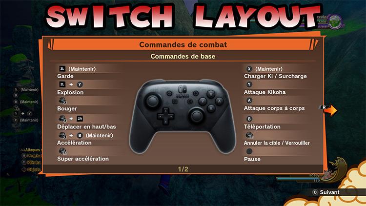 Nintendo Pro Controller GUI DBZ: Kakarot Mod