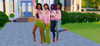 Sorority Student Girls in The Sims 4