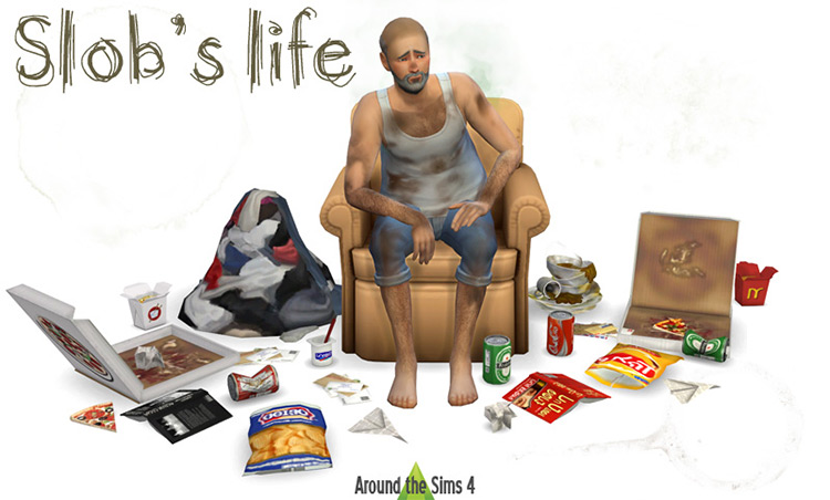 Slob's Life Clutter Sims 4 CC