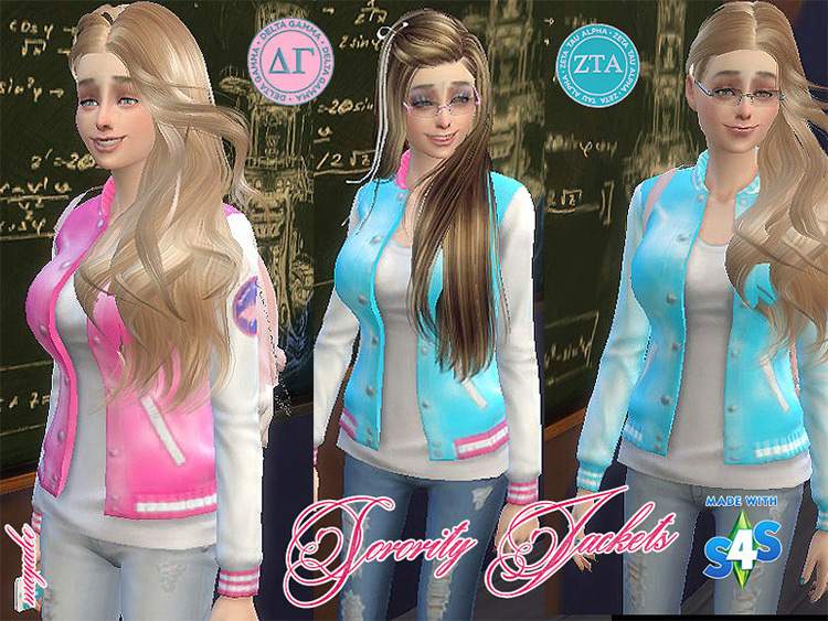Sorority Jackets for Sims 4