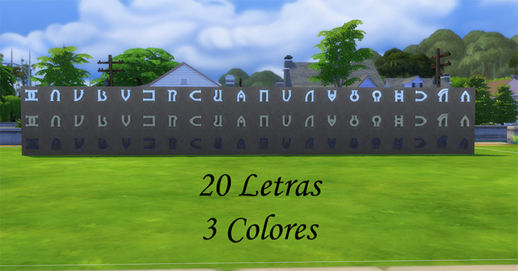 Simlish Alfabeto Sims 4 CC