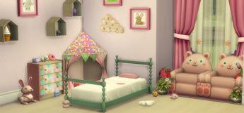 Rose Toddler Bedroom Design for TS4