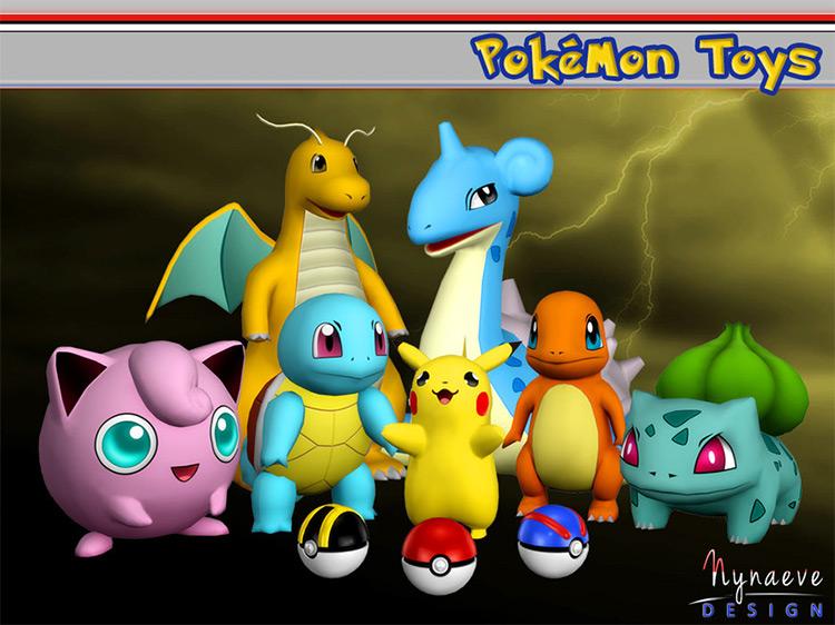 Pokémon Toys - Sims 4 CC