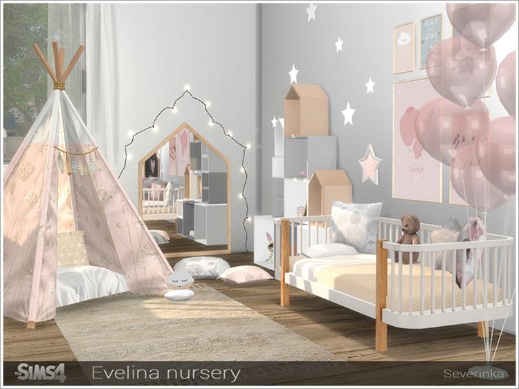 Evalina Nursery CC for Sims 4