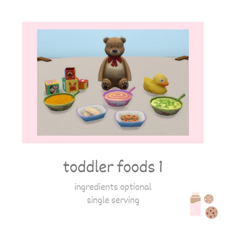 Toddler Foods Set 1 - TS4 CC