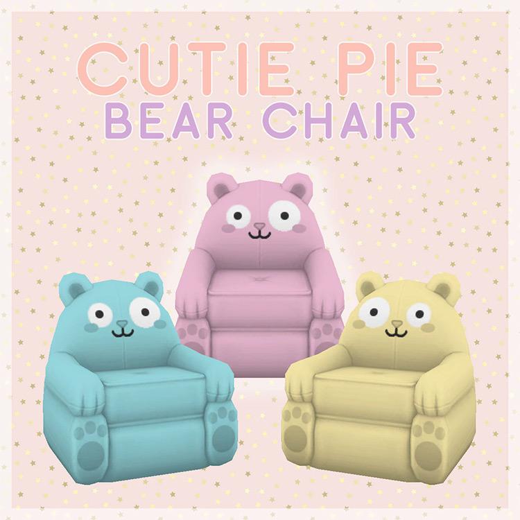 Cutie Pie Bear Chair - Sims 4 CC