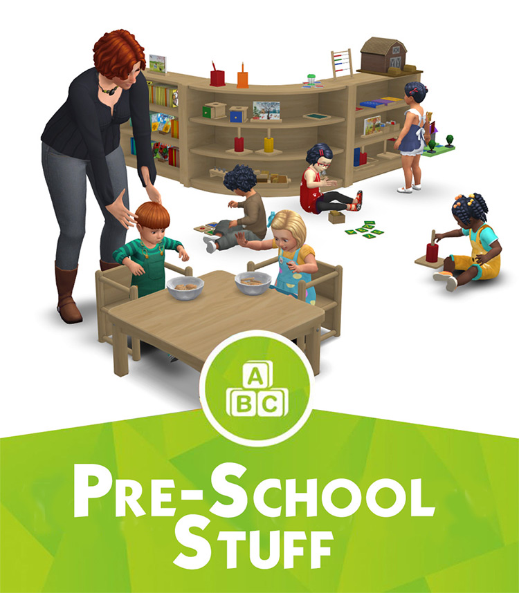 Pre-School Stuff Sims 4 CC