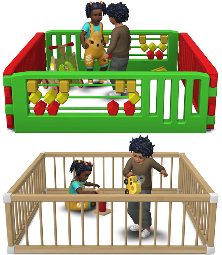 Toddler Playpens CC for Sims 4