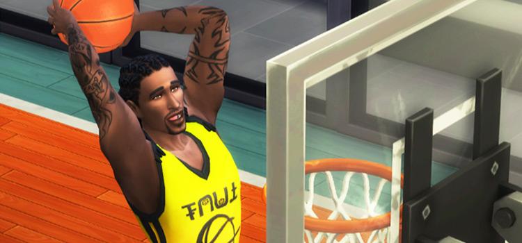 Baller Sims 4 Modded Preview - Basketball Dunk