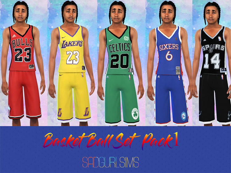 Basketball Set Pack #1 for Sims 4