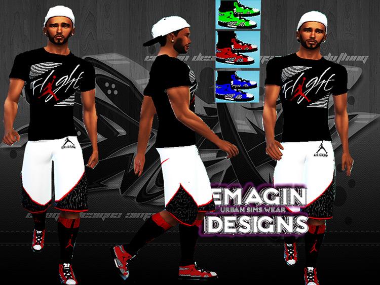 Custom Color Jordans for Sims 4