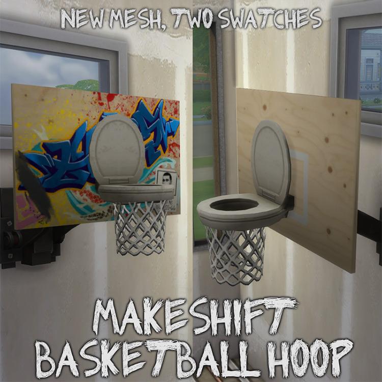 Makeshift Basketball Hoop TS4 CC
