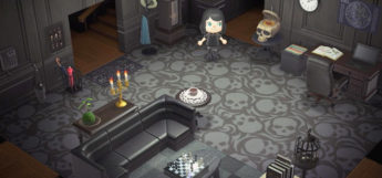 Goth-themed Living Room Design in New Horizons
