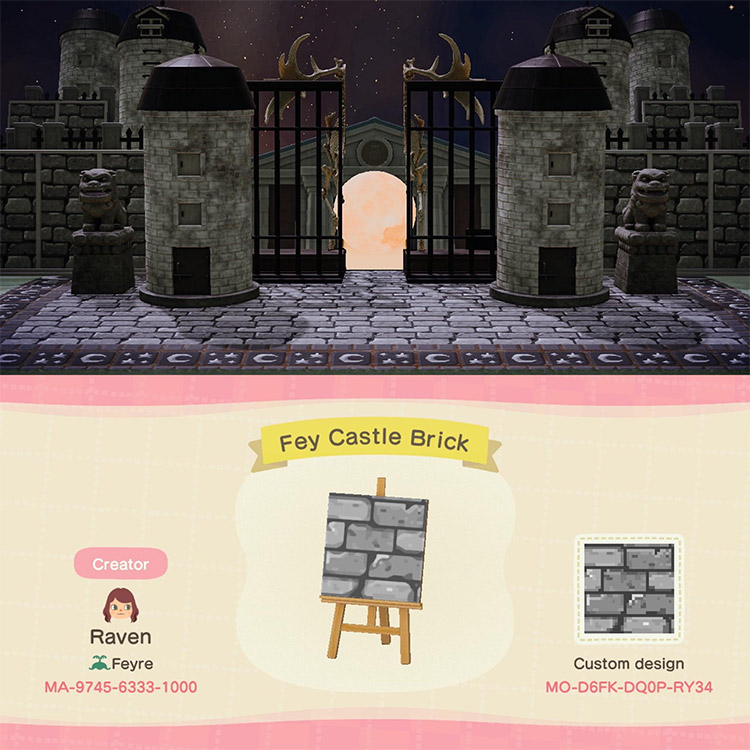 Museum Gothic Entrance Idea in ACNH